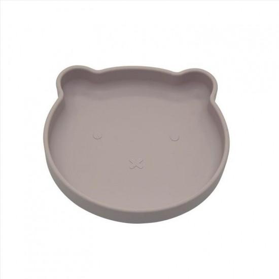 B-Suction plate Bear Pink