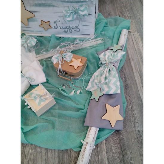 Πλήρες πακέτο βάπτισης Star turquoise