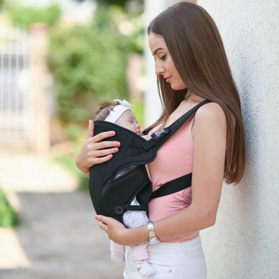 Baby Carrier Between Grey & Black
