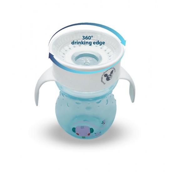Εκπαιδευτικό Κύπελλο 360° Με Λαβές 270 ML Magic Cup Blue από την Cangaroo