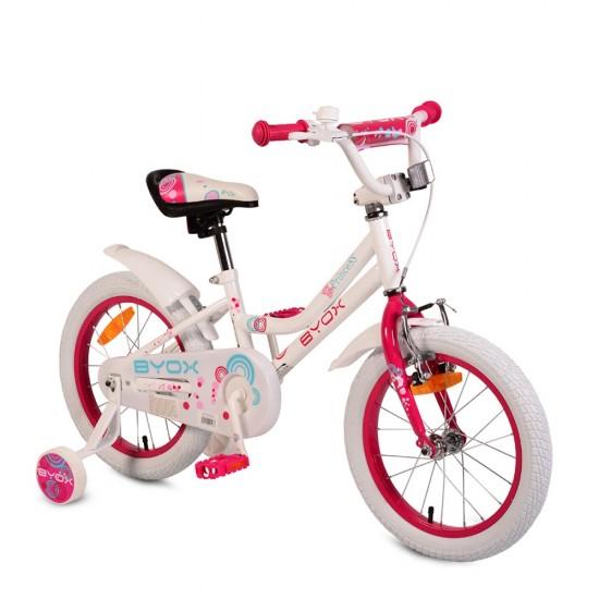 Ποδήλατο 16'' Little Princess White ( Δώρο φωτάκια μπροστά και πίσω )
