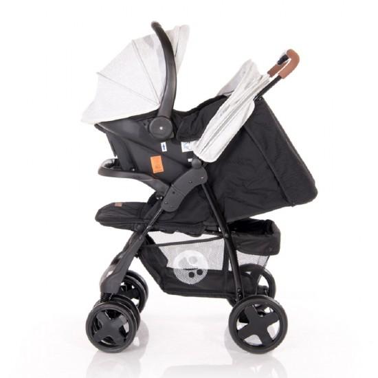 Ines Set Stroller Grey & Black Cross