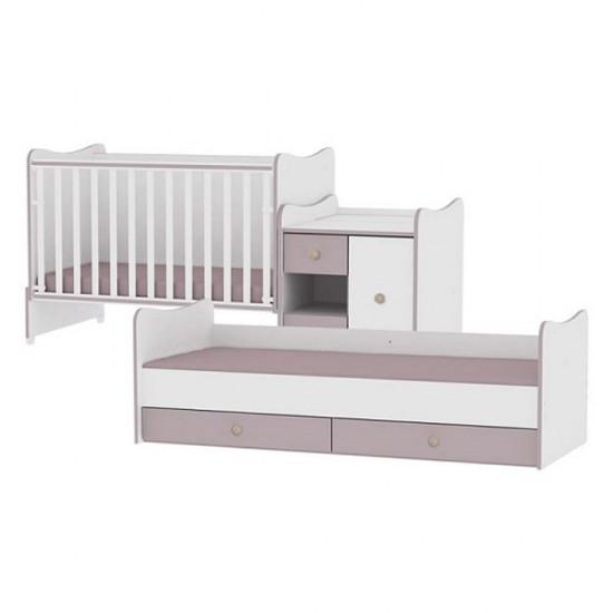 Πολυμορφικό Κρεβάτι Lorelli Mini Max White/Coffee
